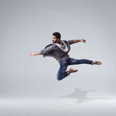 man doing airborne stunt